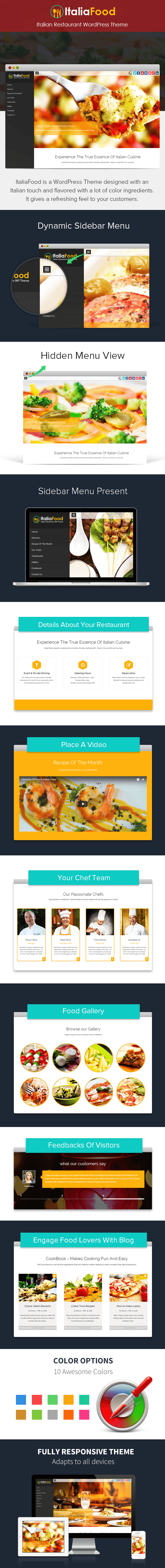 italian restaurant wordpress theme