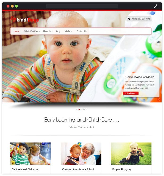 Kiddidays Best Preschool Child Care & Kindergarten WordPress Themes