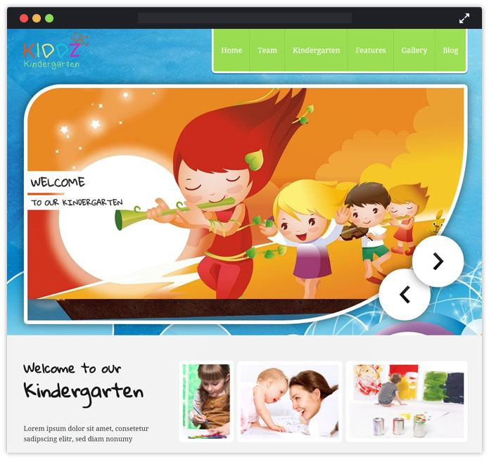 Kiddz Best Preschool Child Care & Kindergarten WordPress Themes