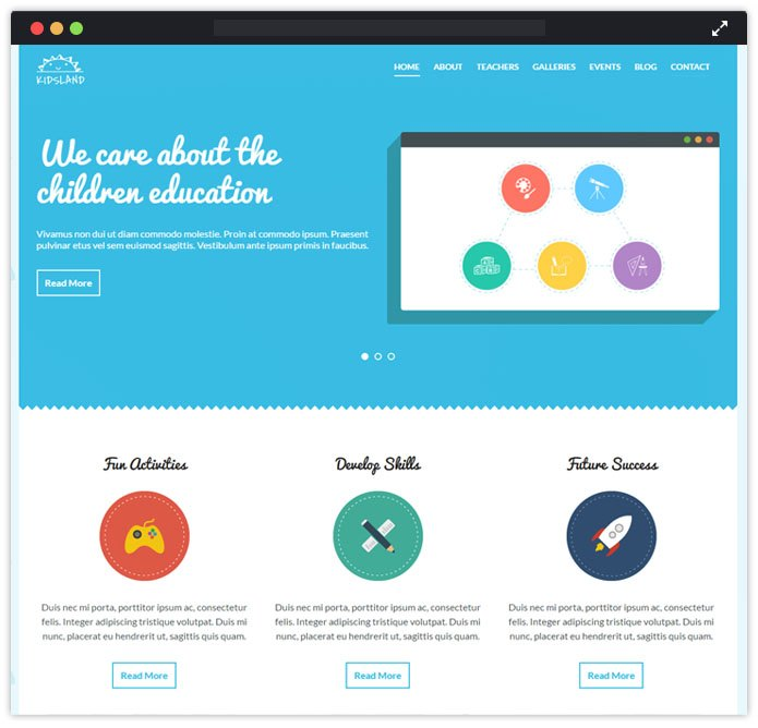 kidsLand Best Preschool Child Care & Kindergarten WordPress Themes