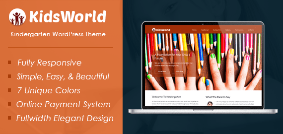 KidsWorld – Kindergarten WordPress Theme