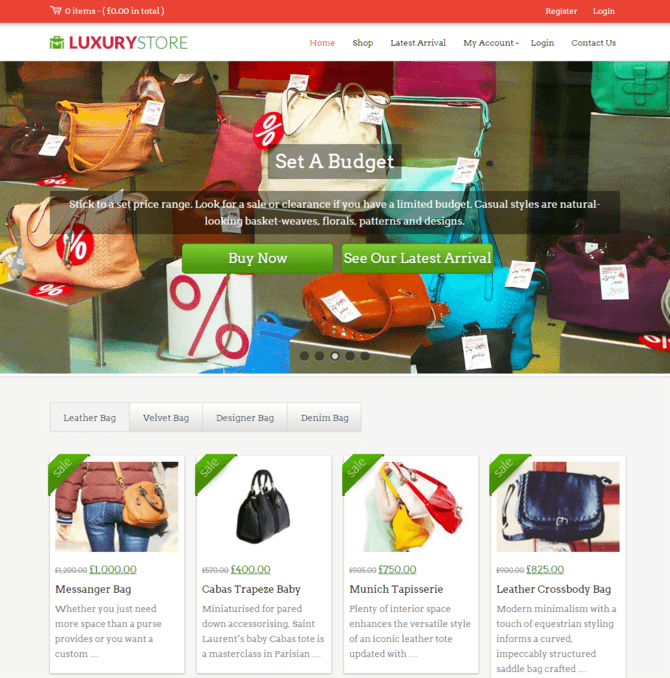 luxury store wp theme