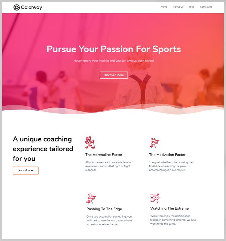 Colorway - Fitness WordPress Theme