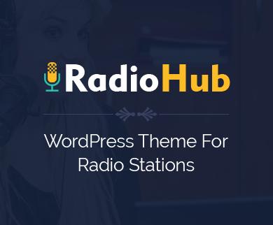 RadioHub - FM Radio Station WordPress Theme