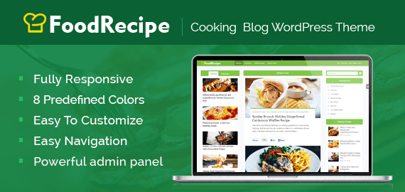 FoodRecipe – Recipe & Cooking Blog WordPress Theme
