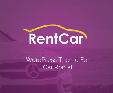 RentCar - Car Rental Online Booking WordPress Theme