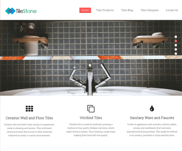 tile stone wp theme