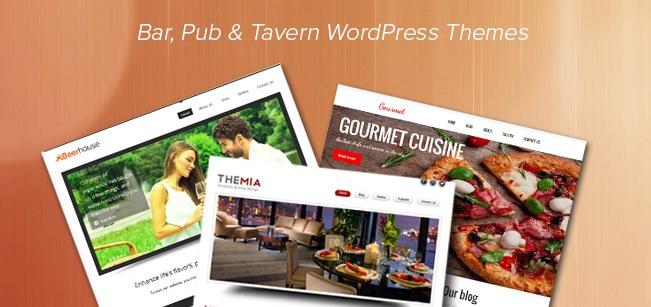 Top Bar Pub Tavern WordPress Themes InkThemes
