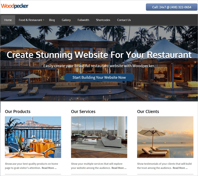 Woodpecker WordPress Professional Theme InkThemes