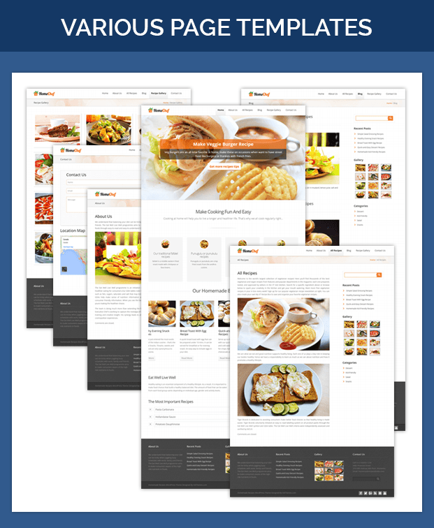 HomeChef All Page Images