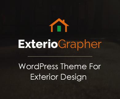 Exteriographer - Exterior Design WordPress Theme