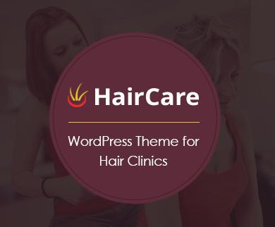 HairCare - Hair Clinic WordPress Theme