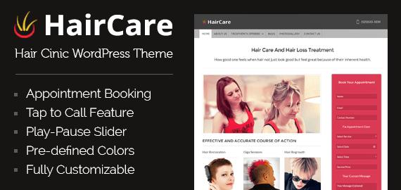 Hair Clinic WordPress Theme