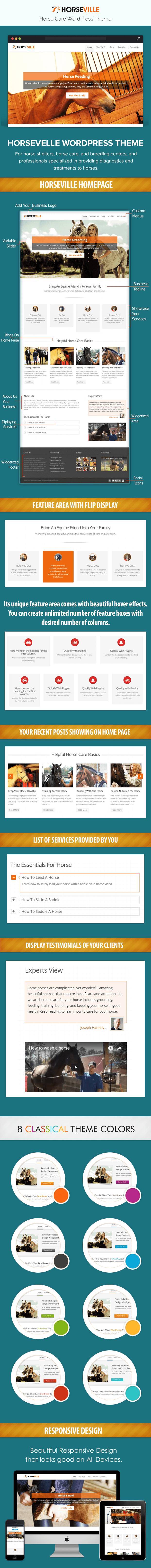 Horse Care WordPress theme