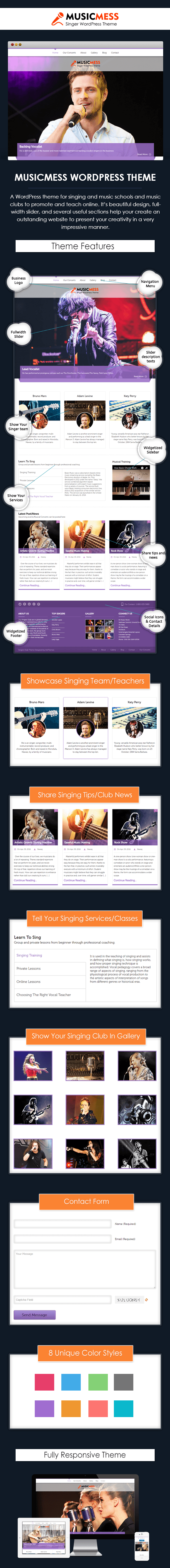 Music Mess WordPress Theme