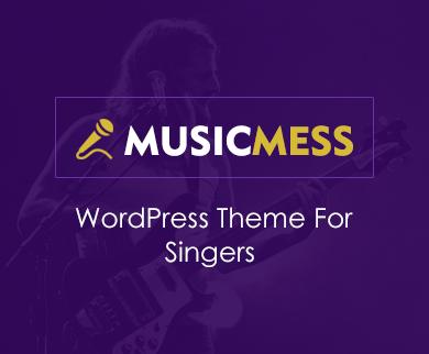 MusicMess - Singer WordPress Theme