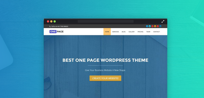 Create Website With One-Page WordPress Theme (Tutorial) | InkThemes