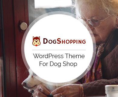 DogShopping - Dog Shop WordPress Theme