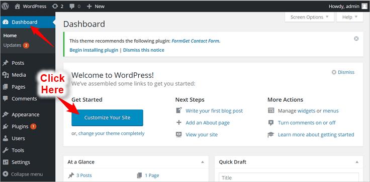 Create Website With One-Page WordPress Theme (Tutorial) | InkThemes