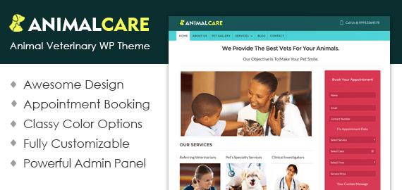 Animal Care – Pets Club, Shop & Veterinary WordPress Theme