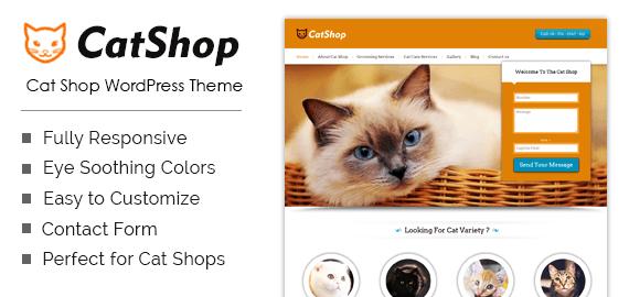 Cat Shop WordPress Theme