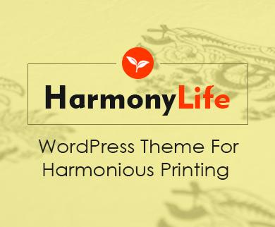 HarmonyLife - Harmonious Printing WordPress Theme