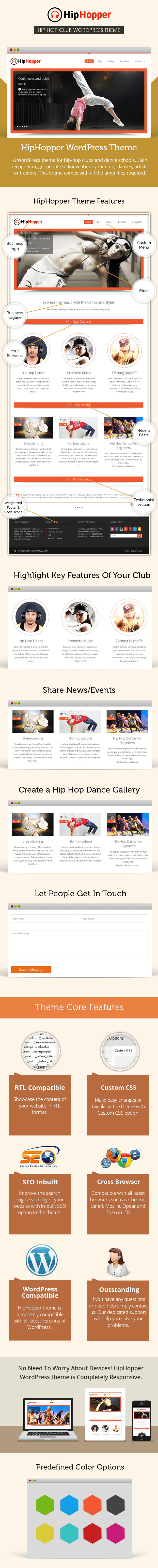 hip hop dance club template