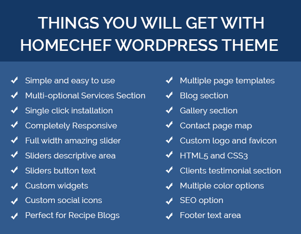 homechef wordpress theme