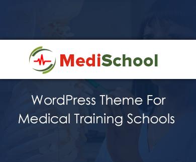 MediSchool - Medical Training School WordPress Theme