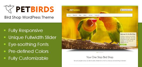 Bird Shop WordPress Theme