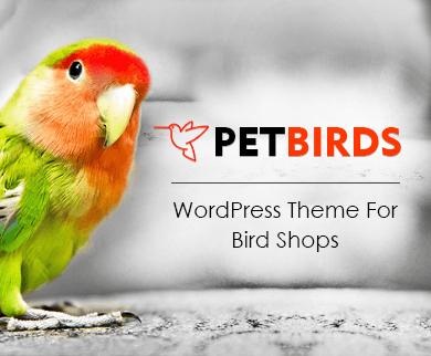 PetBirds - Bird Shop WordPress Theme