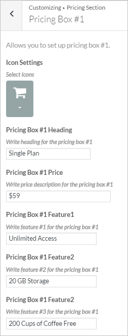 Pricing Section InkThemes