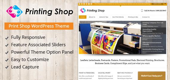 Print Shop WordPress Theme