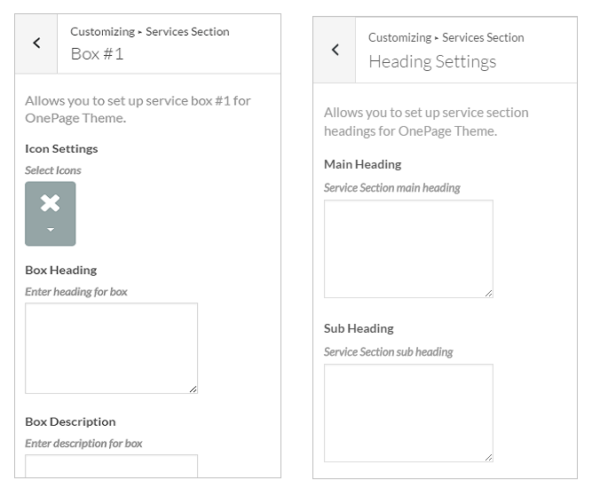service section InkThemes