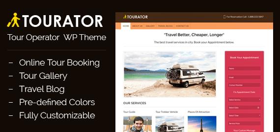 Tourator – Tour Operator WordPress Theme