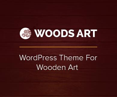 WoodsArt - Wooden Art WordPress Theme