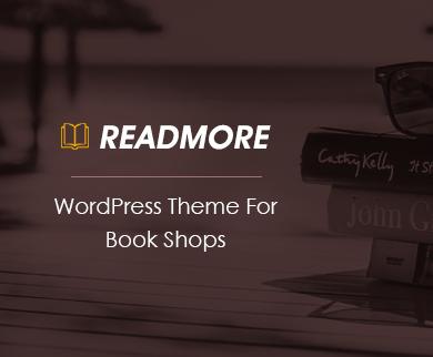 ReadMore - Book Shop WordPress Theme