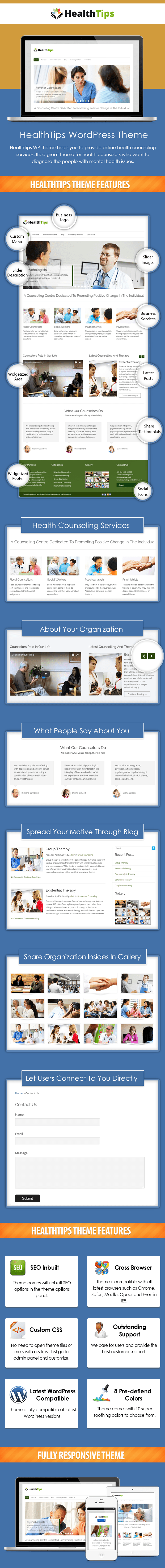 HealthTips WordPress Theme