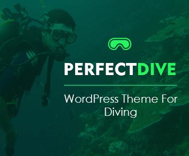 PerfectDive - Diving WordPress Theme