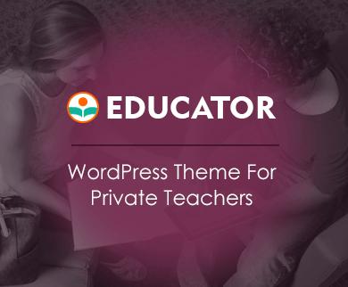 Educator - Private Teacher WordPress Theme