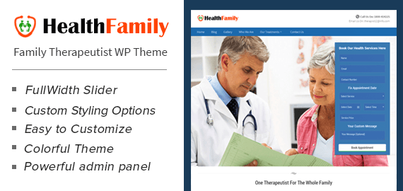 Family Therapeutist WordPress Theme