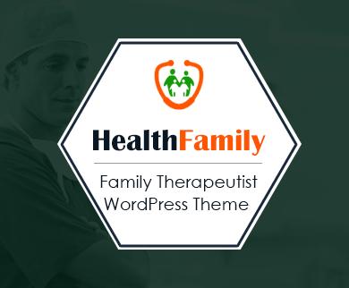 HealthFamily - Family Doctor & Therapeutist WordPress Theme