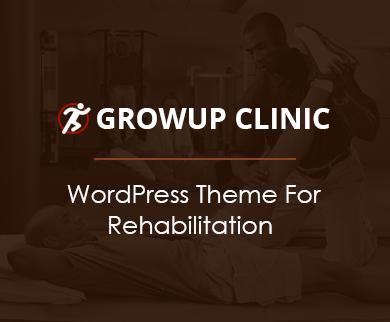 Growup Clinic - Rehabilitation WordPress Theme
