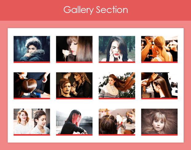 HairStylist Gallery Section
