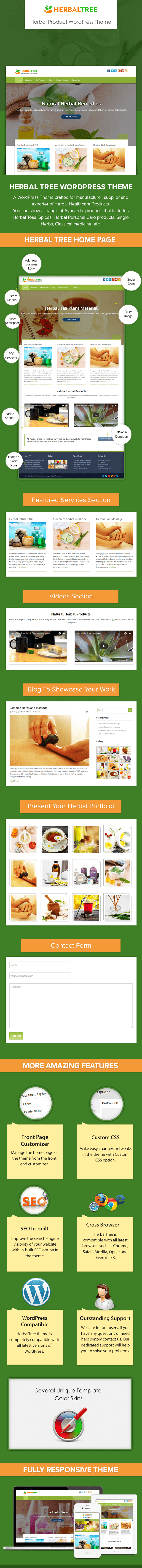 Herbal Products WP Theme