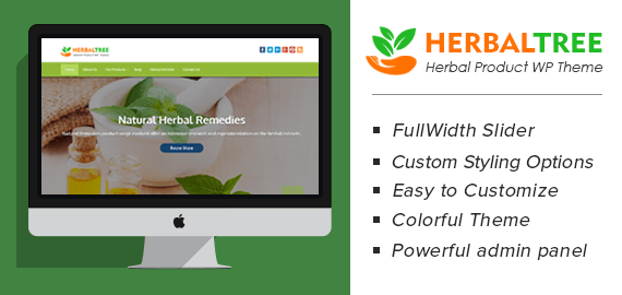 Herbal Products WordPress Theme | InkThemes