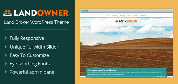 Land Broker WordPress Theme