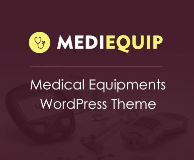 MediEquip - Medical Equipment WordPress Theme