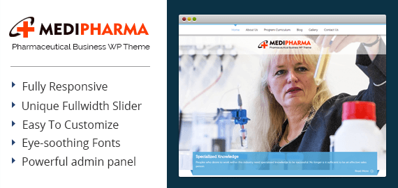 Pharmaceutical Business WordPress Theme