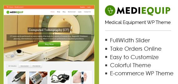 Medical Equipment WordPress Theme